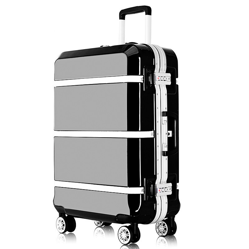 цена на Hardside Rolling Luggage Suitcase 20 Carry On 242628 Checked Luggage Aluminum Frame PC Shell Luggage Travel Trolley Suitcase