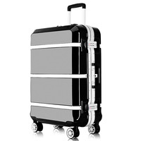 Hardside Rolling Luggage Suitcase 20 Carry On 242628 Checked Luggage Aluminum Frame PC Shell Luggage Travel Trolley Suitcase