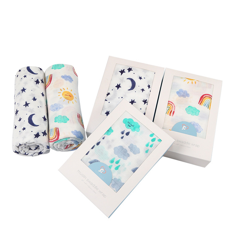 Baby Blanket Bamboo And Cotton Muslin Swaddle Quality Better Than Bath Towel Infant Wrap