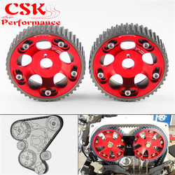Upgrade 2Pcs Adjustable Cam Gears Pulley Timing Gear for Toyota Supra 1JZ 2JZ Red
