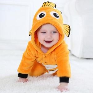 Image 2 - Anime Baby Nemo Clownfish Kigurumi piżama pajacyk dla noworodka Animal Onesie przebranie na karnawał Onepieces strój kombinezon zimowy