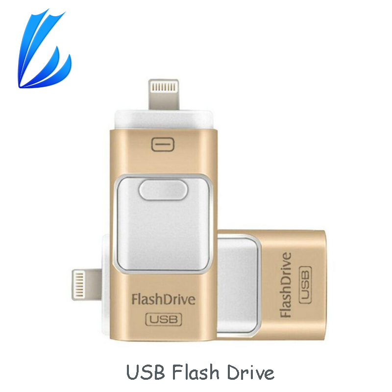 купить LL TRADER OTG USB Flash Drive Pen Drive 64 32GB For iPhone iPad IOS Android Mac Devices i-Flash Drive Mini USB Memory U Stick по цене 1085.39 рублей