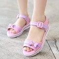 Sapatos sandálias verão 2017 meninas das crianças Coreano princesa casuais sapatos de boca de peixe