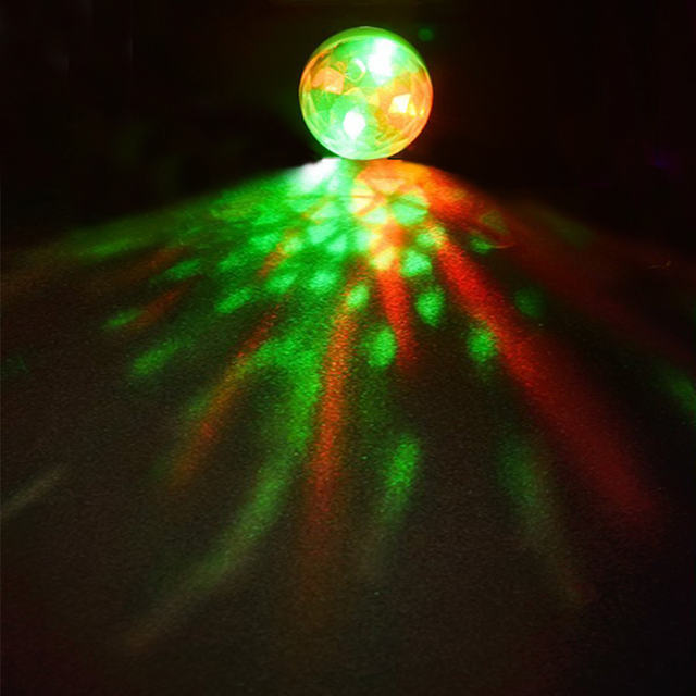 Disco Light Mini USB Disco Crystal Magic Ball Party Portable Colorful Night Lights Gift For Children Phone DC 5V Led Stage Lamp 2