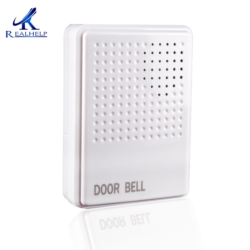 ABS Plastic White Doorbell For Swipe Card Access Control Ring Ding Dong Without Built-in Battery 12 Volt 230mm Wired Doorbell