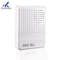 ABS Plastik Beyaz Kapı Zili Tokatlamak Kartı Erişim Kontrolü için Halka Ding dong Dahili splittersiz Pil 12 Volt 230mm Kablolu kapı zili|Kapı Zili|   -