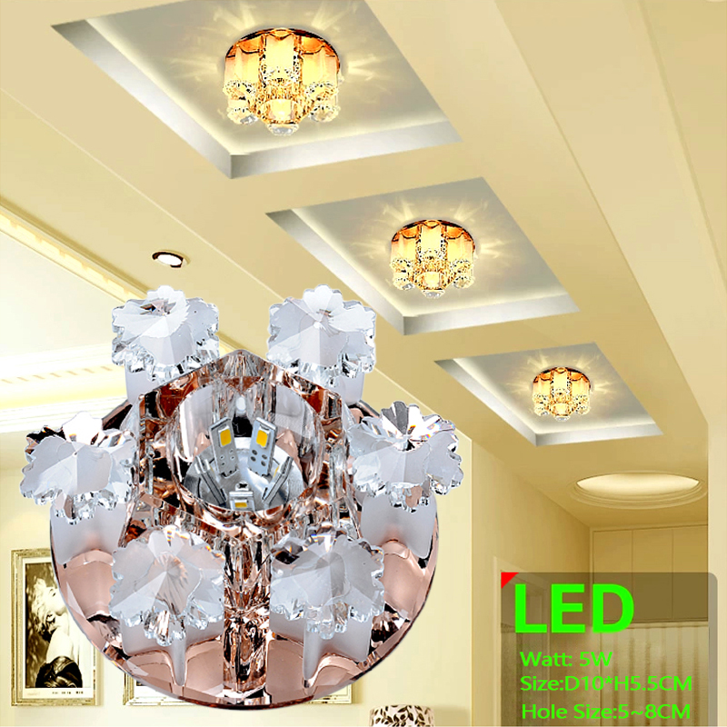 LAIMAIK Crystal LED taklampa 3W 5W AC90-260V Modern Crystal Ceiling LED Light Aisle LED taklampa för vardagsrum