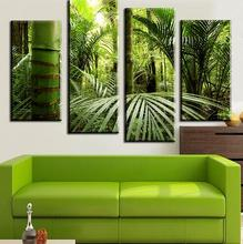 4 Pieces The Beautiful Tropical Jungle Wall Painting Print On Canvas For Home Decor Unframed Print Poster Art футболка print bar jungle