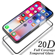 20D Full tempered Glass on for iphoneX XS XR 9H Black screen protector iphone6 6S 6plus 2.5D 7 7plus 8 8Plus XSMAX