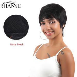 Image 2 - HANNE Hair Pixie Cut Wigs Short Human Hair Wigs Wavy Wig Brazilian Remy Hair Free Part Wig for Black/White Women