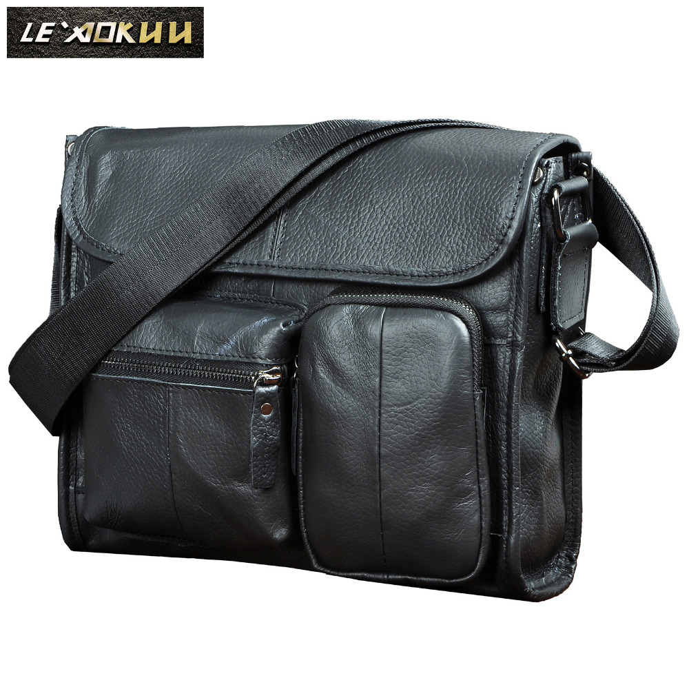 все цены на New Fashion Quality Leather Male Casual messenger bag Satchel Design 11
