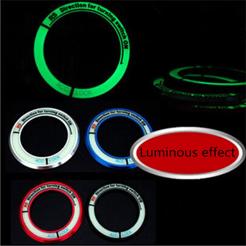 Car-styling Luminous Ignition Key Ring Sticker Case For Nissan X-Trail Qashqai Livina Sylphy Tiida Sunny March Murano Pathfinder