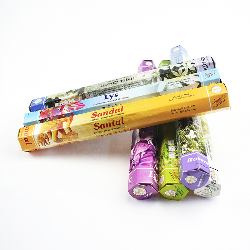 8 Smell Sandalwood Incense Sticks Indian  Relieve Stress Lavender Flovors Rich Scent Handmade Aroma