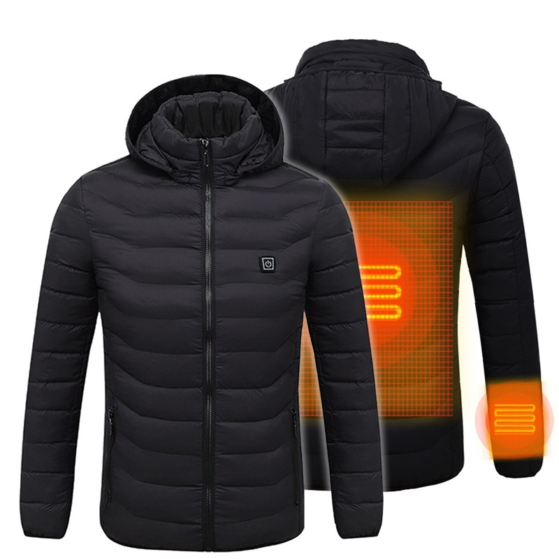 Hunting Fishing Camping Hiking Outdoor Sports USB Electric Battery Heated Jacket Heating Hoodie Cloth Warmer Coats Best Gift