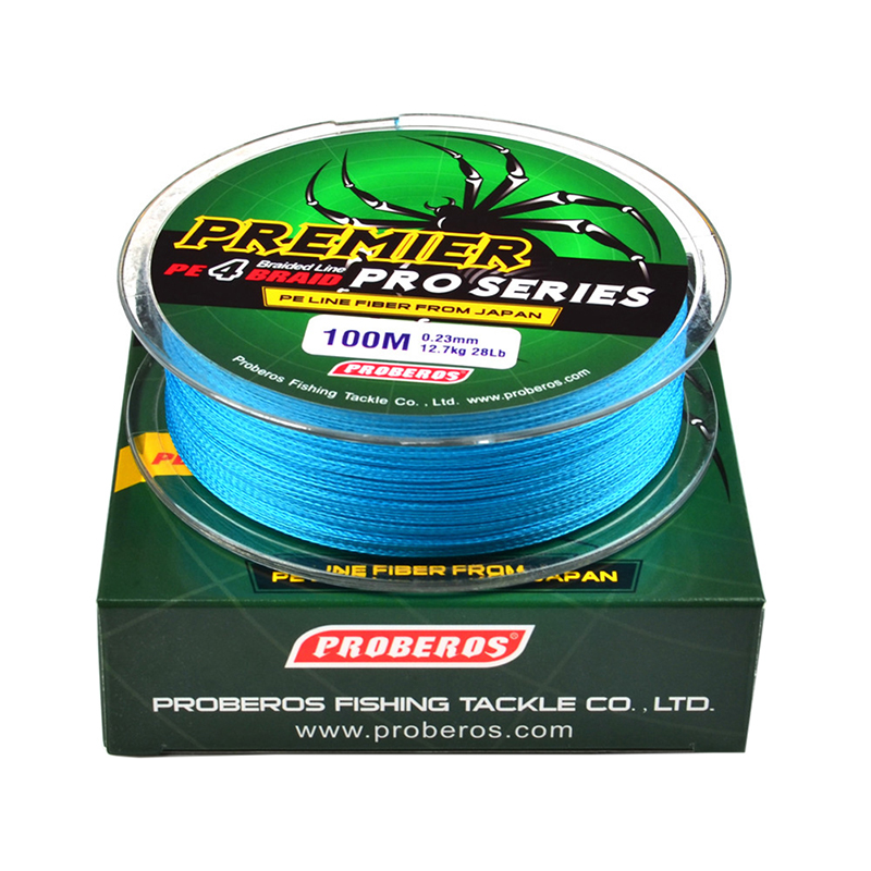 100M 4 Strands Fishing Line Multifilament Braided Available PE 6LB-100LB