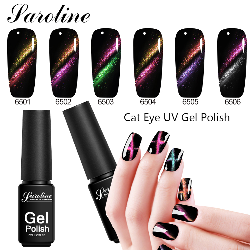 Saroline Cat Eye Line UV Gel Nail Polish Magnet Nail Gel Lacquer ...