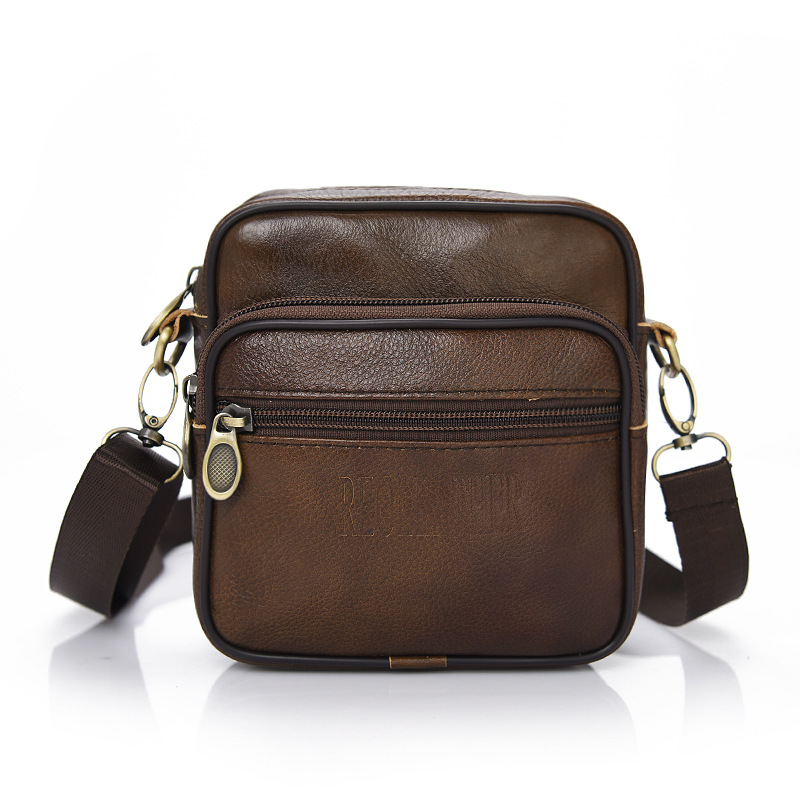 100% Genuine Cowhide Leather Shoulder Bags Men Famous Brand Crossbody Bags High Quality Male Messenger Bag