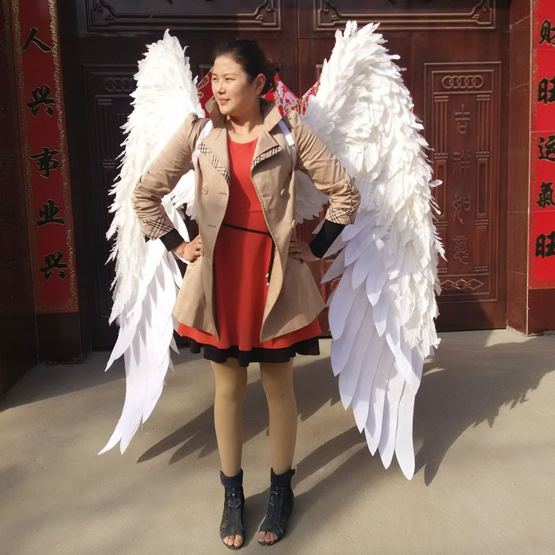 shows carnival V cabaret stage performance clothes wing headwear skirt big angel Feather Wings Costumes Set