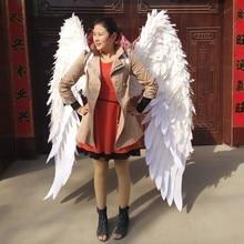 Шоу карнавал V кабаре одежда для сцены крыло головные уборы юбка большой Ангел перо Крылья Костюмы комплект для женщин