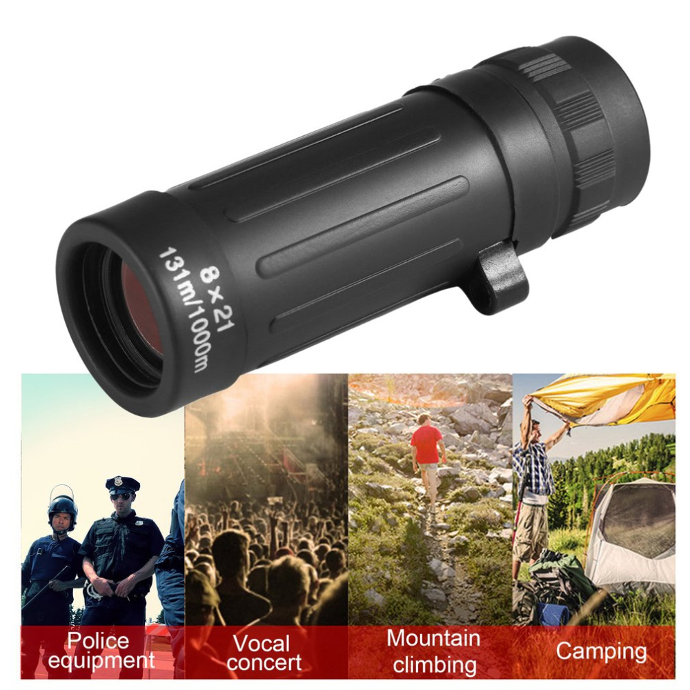 8X Monocular Telescope 8x21 Camping Hunting Sports Telescope Handy Scope Compact Monocular Binoculars Portable Black Dropshippin