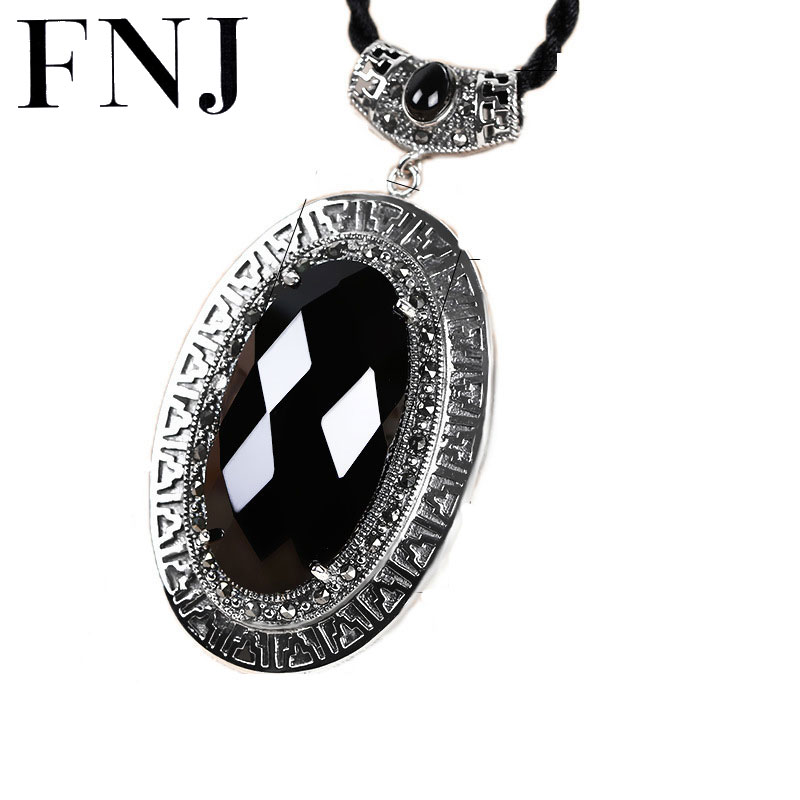 925 Silver Oval Pendant Natural Black Stone 100% Pure S925 Solid Thai Silver Pendants for Women Jewelry Making925 Silver Oval Pendant Natural Black Stone 100% Pure S925 Solid Thai Silver Pendants for Women Jewelry Making