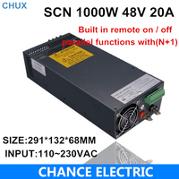48v 20a Switching Power Supply SCN 1000W 110 220VAC SCN Single Output Input For Cnc Cctv