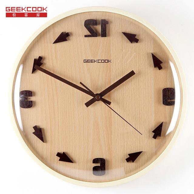 Crazy Time Reversal 3D Digital 31.5cm Wood Glass Modern Design Wall ...