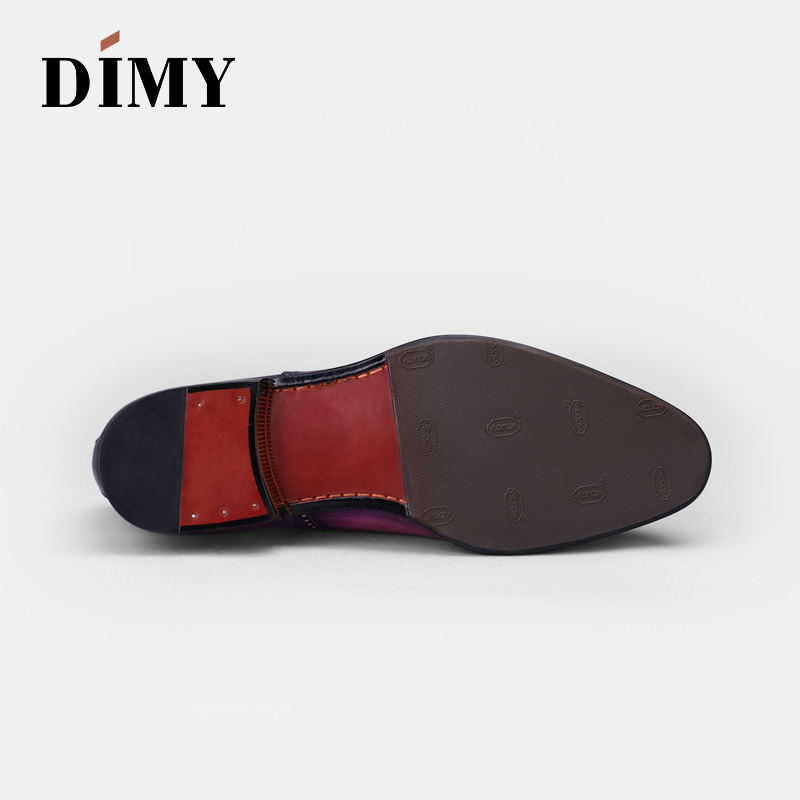 DIMY 2019 business dress shoes British trend leather oxford shoes Goodyear trend men 39 s shoes in Formal Shoes from Shoes