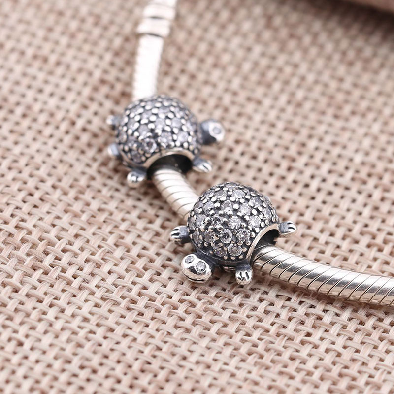 DIY Animal Frog Beads Fit for Pandora Bracelet Women Jewelry Making Crystal S925 Sterling Silver Charm Bead Christmas tree gift