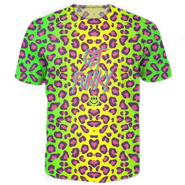Get Funky футболки все более печати 3d топы тис смешные футболки графические футболки женщины мужчины повседневная hipster рубашки