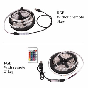 Image 2 - USB LED 스트립 DC 5V 유연한 조명 램프 60LED SMD 2835 50CM 1M 2M 3M 4M 5M 미니 3Key 데스크탑 장식 테이프 TV 배경 조명