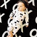 Nununu Fashion Cute Geometric Patterns Newborn Baby Boys Girls Long-sleeved Rompers Jumpsuit Bebe Photo Costume Outfit