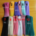 10 pieces/lot 15cm*100CM yellow purple green pink flaxen black white color Hair wig hair for 1/3 1/4 BJD diy