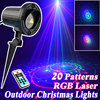 Outdoor Star Christmas Lights Laser Shower Projector RGB 20 Patterns With Remote Waterproof For Home Christmas