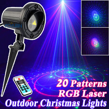 Outdoor Star Christmas Lights Laser Shower Projector RGB 20 Patterns With Remote Waterproof For Home Christmas Tree Decorations цена