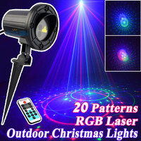 Outdoor Star Christmas Lights Laser Shower Projector RGB 20 Patterns With Remote Waterproof For Home Christmas Tree Decorations