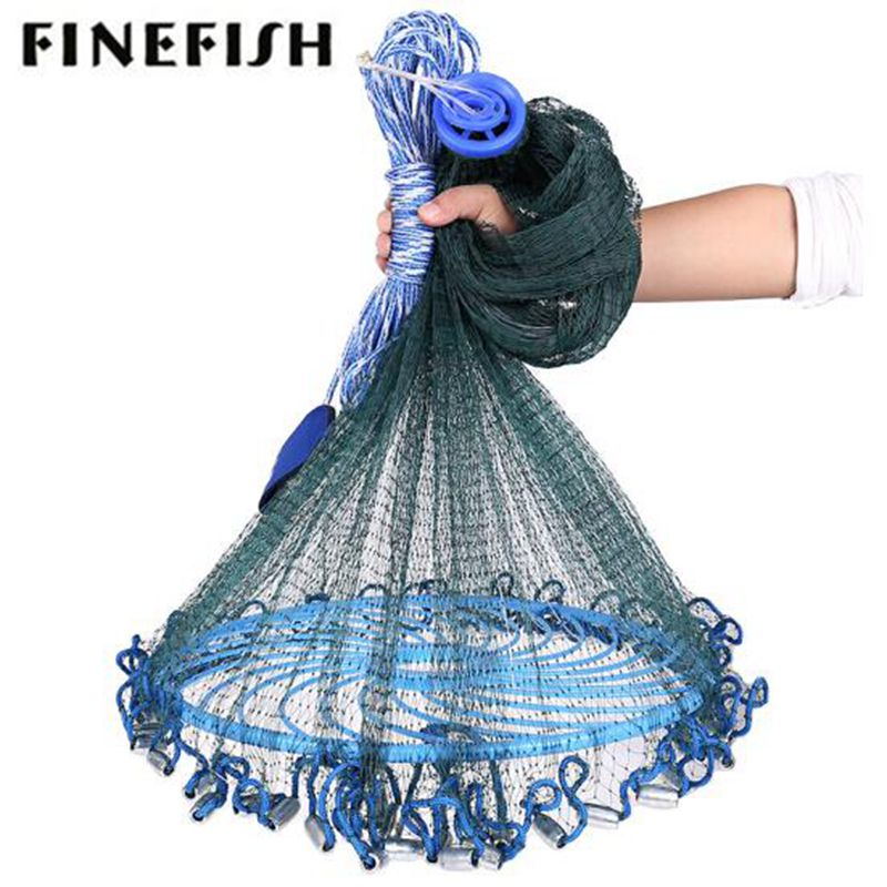 Finefish High Strength Multifilament Line Hand Throw Network USA Cast Nets Small Mesh Fly Hunting Frisbee