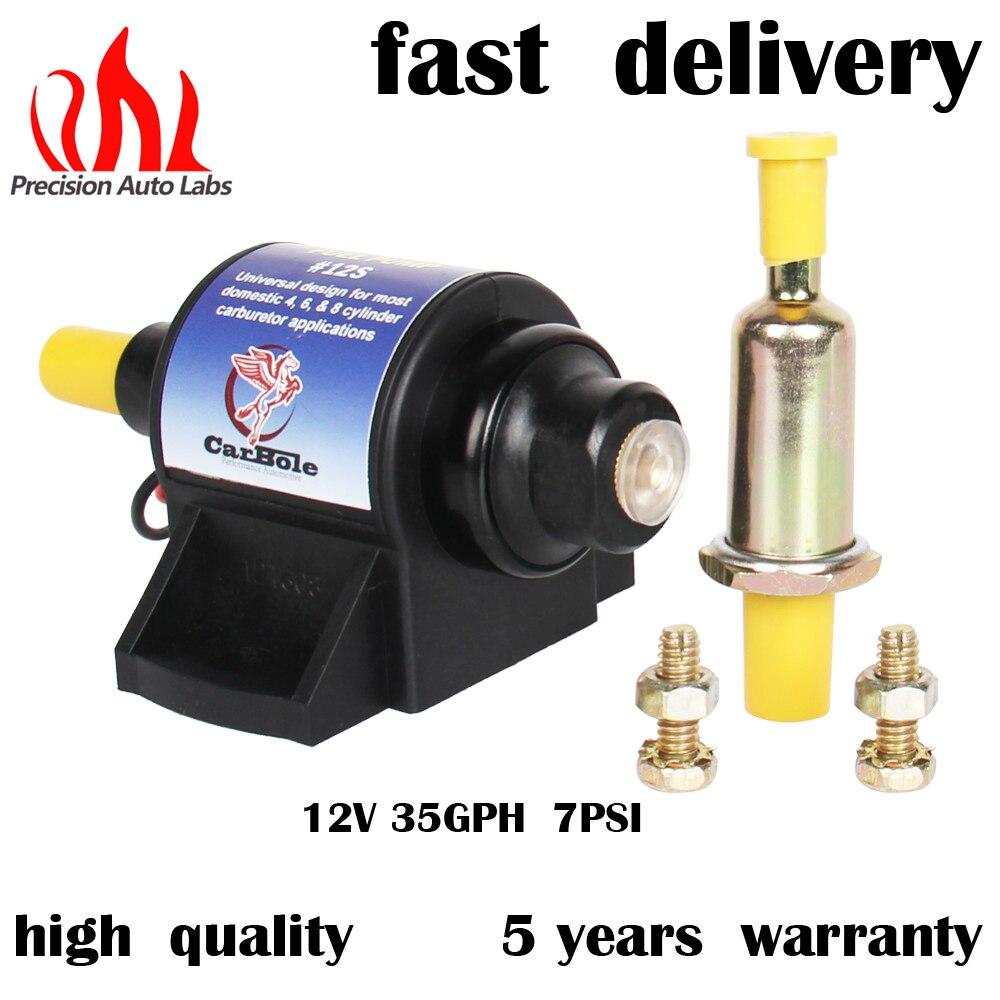 Precision Auto Labs Universal 12v 35gph 7psi Micro Electric Fuel Pump For Sel Gasoline Low Pressure Oil
