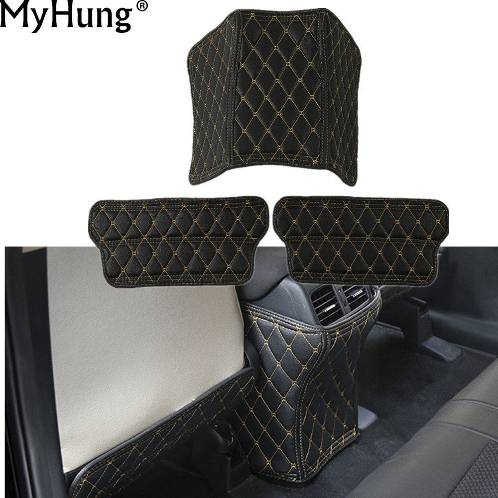 Car Covers For Honda <font><b>Crv</b></font> 2012 To 2016 Car Armrests Kick Pad Rear <font><b>Seat</b></font> Protection Interior Decoration Car Styling Car Accessories