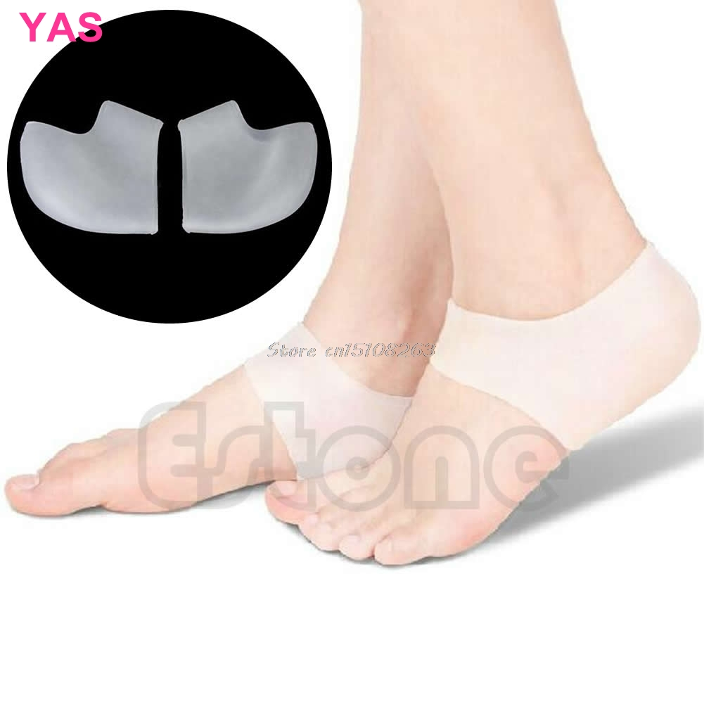 2Pcs Silicone Moisturizing Gel Foot Heel Hole Socks Cracked Skin Care Protectors -Y207 Drop Shipping