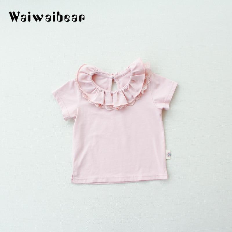 Wysokiej jakości bawełniane koszulki dla dzieci Baby Girl Casual - Odzież dla niemowląt - Zdjęcie 5