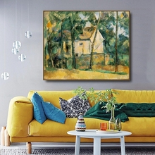 House and Trees by Cezanne Famous Canvas Painting Calligraphy Posters Prints For Home Living Room Wall Art Decoration