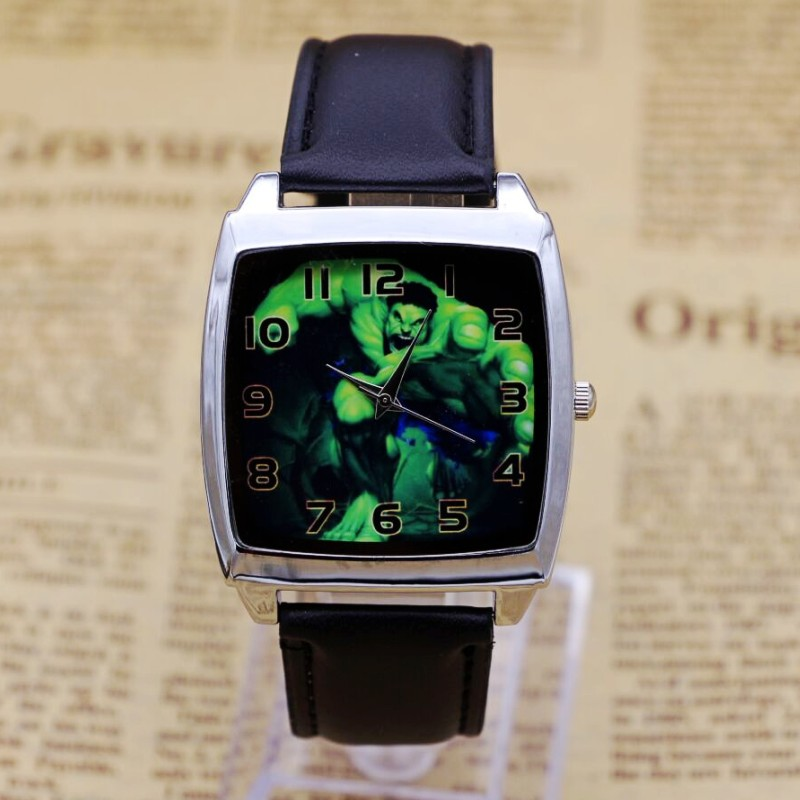 New Fashion Casual Sports Hulk Pattern Quartz Wristwatches Children Watch Jelly Kids Clock Boys Hours Girls Students Wristwatch