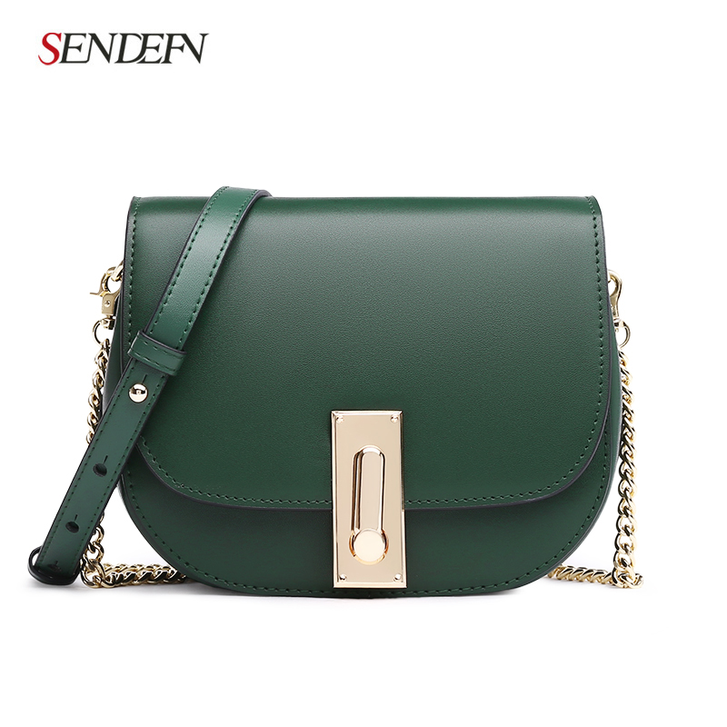 New Arrival Brand Crossbody Bag Casual Shoulder Bags Women Small Fashion Split Leather Messenger Bags Ladies Cute Saddle Green casual small candy color handbags new brand fashion clutches ladies totes party purse women crossbody shoulder messenger bags