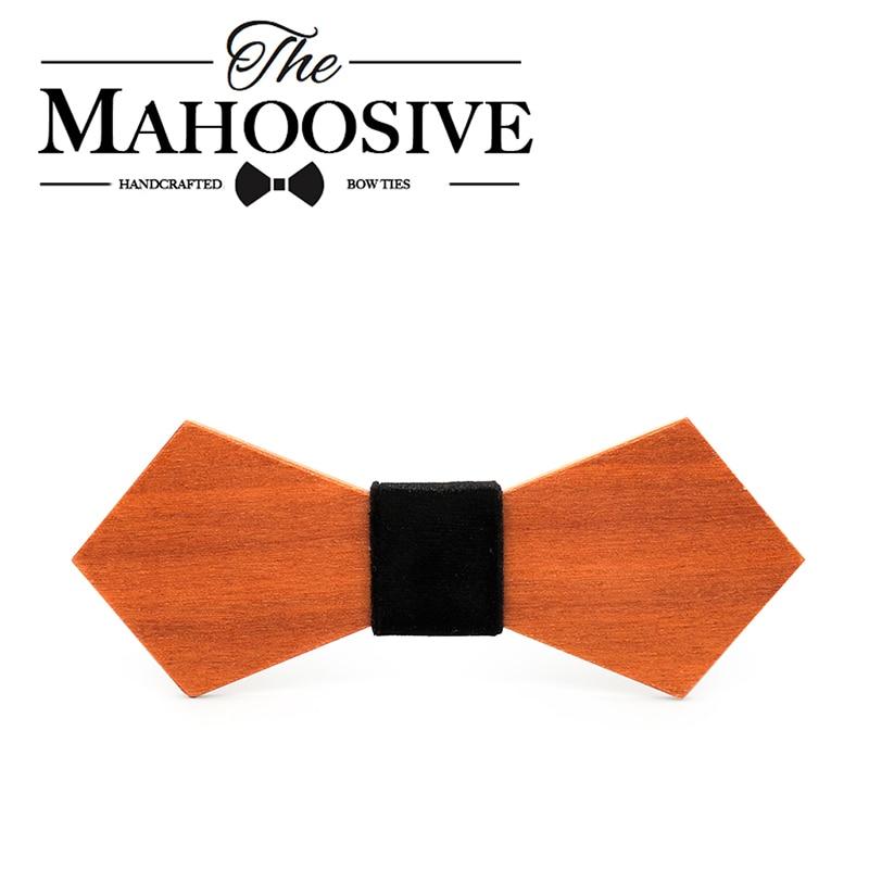 Humor Mahoosive Neue Stil Mode Handgemachte Holz Hochzeit Bowtie Gravata Krawatten Für Männer Kleidung Zubehör Herren Holz Fliege