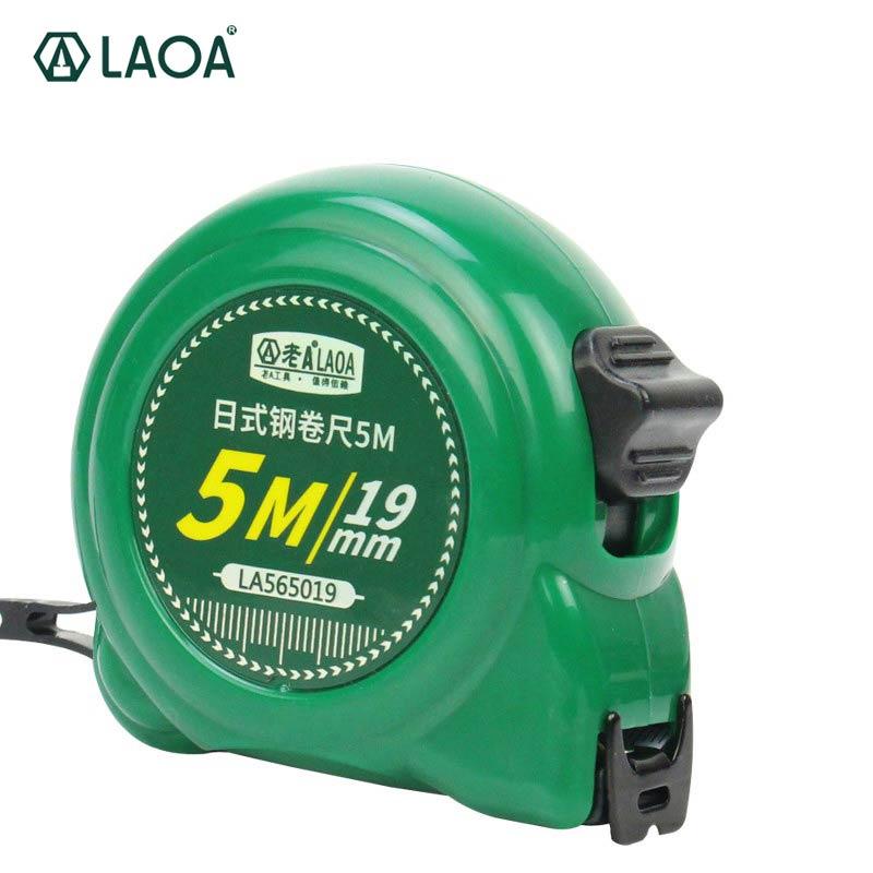LAOA Japan Type 3m / 5m / 7.5m / 10m Měřicí páska Ruleta Oboustranné ocelové pravítko Tapeline páska měří zatahovací měřící nástroje
