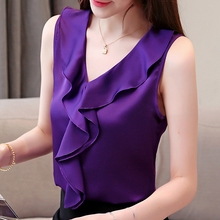 Korean Fashion Silk Women Blouses Ruffles Satin Pink Women Shirts Plus Size XXXL/4XL Womens Tops and Blouses Ladies Tops bq bq gummy m5 5 для aquaris m5 5 чехол бампер полиуретан голубой