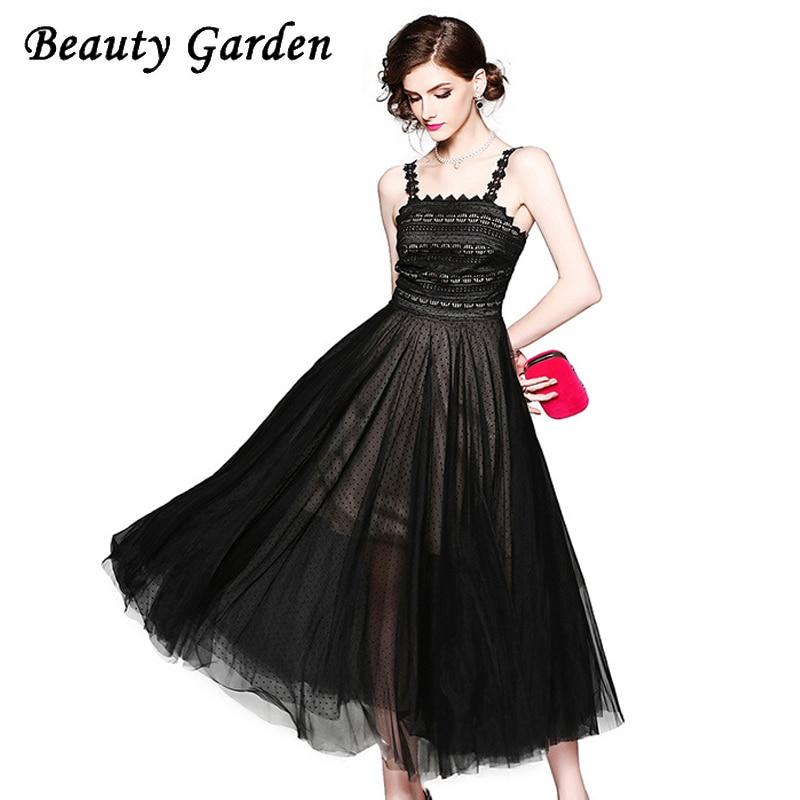 Beauty Fashion Group: Beauty Garden Women Fashion Dot Dress Sleeveless Ankle