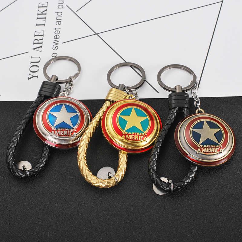 NEW Metal Marvel Avengers Captain America Shield Keychain Spider Iron man Mask Keychain Toys Hulk Batman Keyring Key Gift Toys