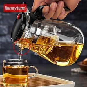 Image 3 - באיכות גבוהה עמיד בחום זכוכית קומקום 960ml הסיני קונג פו תה סט Puer קומקום קפה זכוכית יצרנית נוח משרד תה סיר